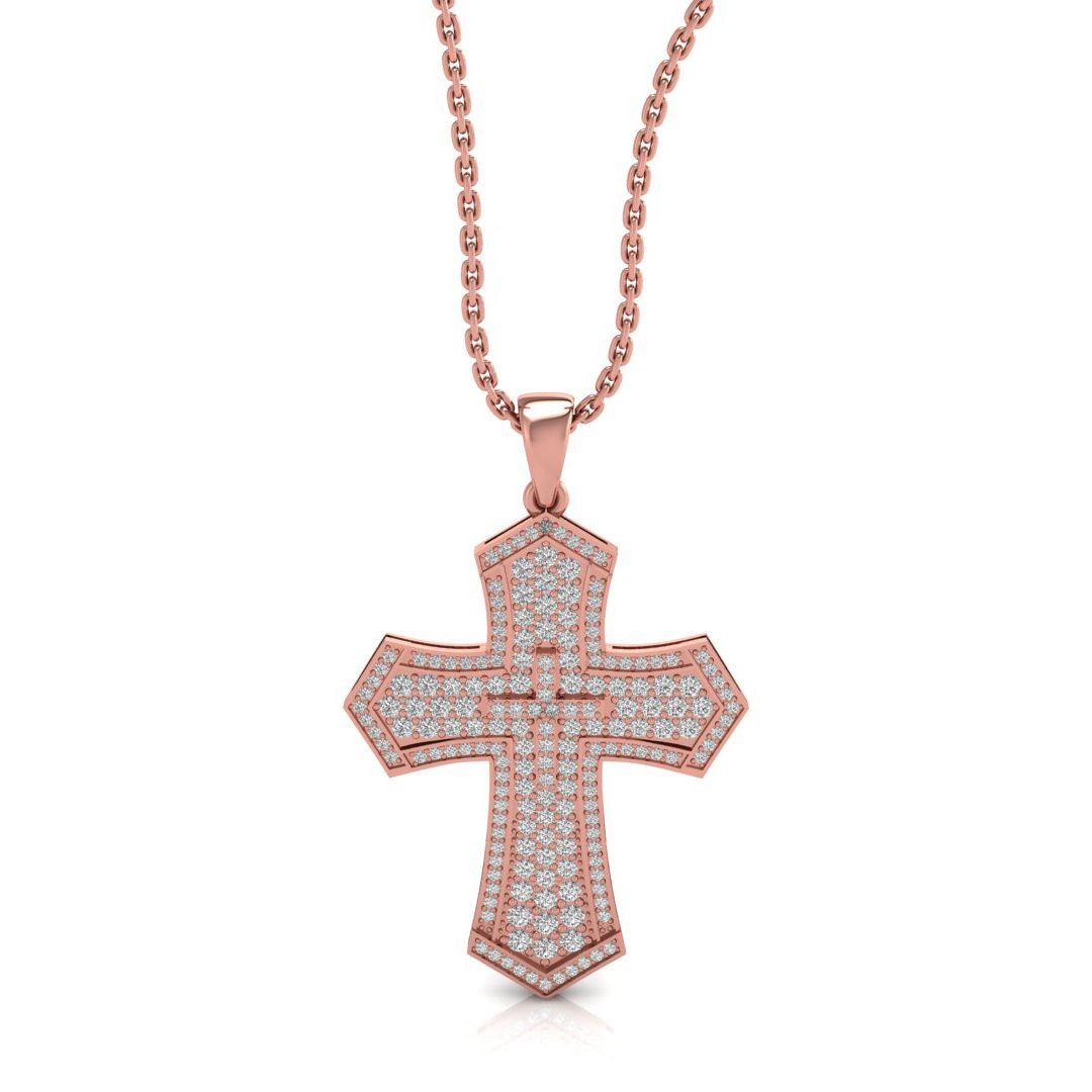 Orlee 5.00ct lab grown diamond cross pendant
