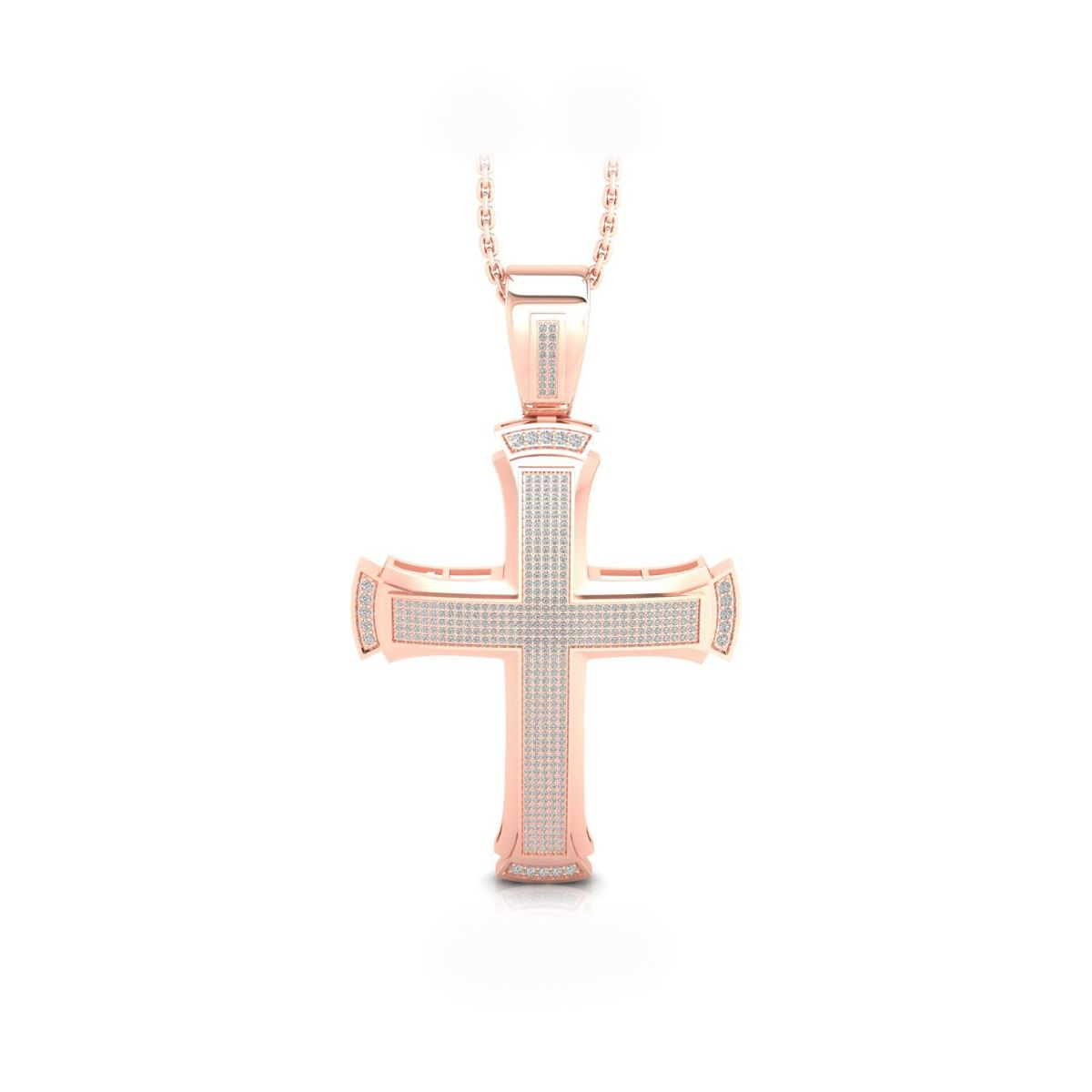 Treva 2.46ct lab grown diamond cross pendant
