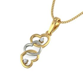 Carol 0.03Ct Lab Created Diamond Heart Pendant