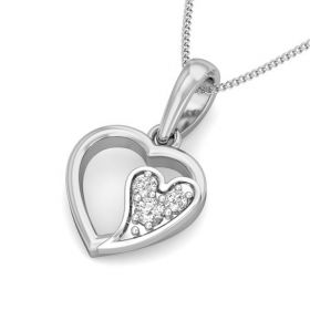 Yoshie 0.04Ct Lab Created Diamond Heart Pendant