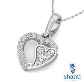 Niaan 0.11Ct Lab Created Diamond Heart Pendant