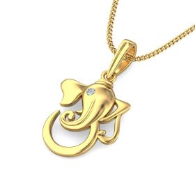 yuri 0.02Ct Lab Created Diamond Ganesha Pendant