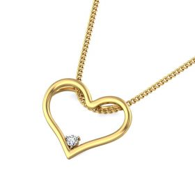 Eden 0.03Ct Lab Created Diamond Heart Pendant