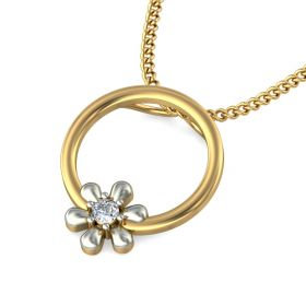Elna Casual Lab Created Diamond Gold Pendant