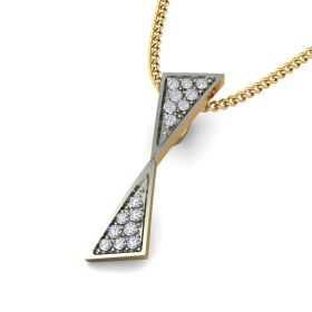 Rylee 0.09Ct Lab Created Diamond Geometric Pendant