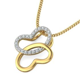 Glora 0.12Ct Lab Created Diamond Gold Pendant
