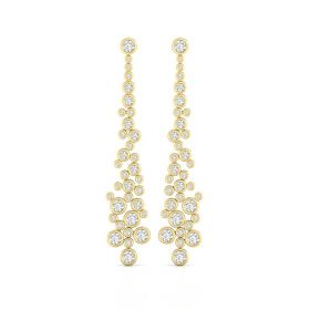 Abby 3.87ct lab grown diamond dangler earrings