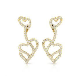 Haily 1.12ct lab grown diamond heart earring
