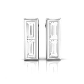 Kimy 0.04ct lab grown baguette diamond ear studs