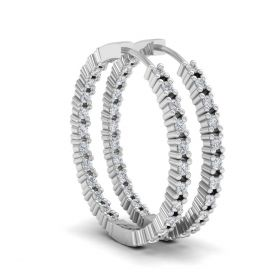 Lopaz in-out lab grown diamond hoop earrings