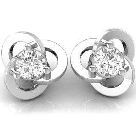0.40CT Round brilliant cut natural diamond overlapping fancy studs