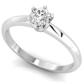 0.26CT Round brilliant cut natural diamond solitaire proposal ring