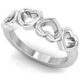 Fancy hollow heart light weight ring for valentine gift