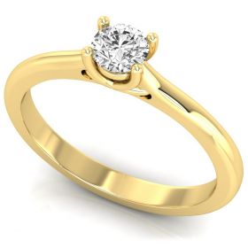 classic 0.24CT Round brilliant cut lab grown diamond solitaire ring for anniversary gift