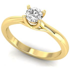 0.30CT round brilliant cut lab grown diamond solitaire anniversary ring gift