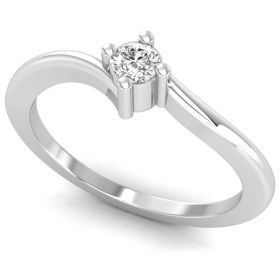 Latest 0.12CT round brilliant cut lab grown diamond cut solitaire ring for women