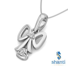 Jonna  0.02Ct  Lab Created Diamond Bow Pendant