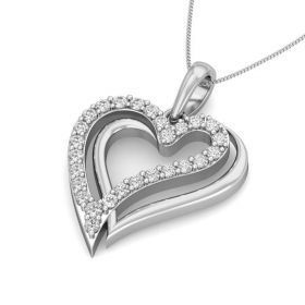 Lima 0.22Ct Lab Grown Diamond Hearts Pendant