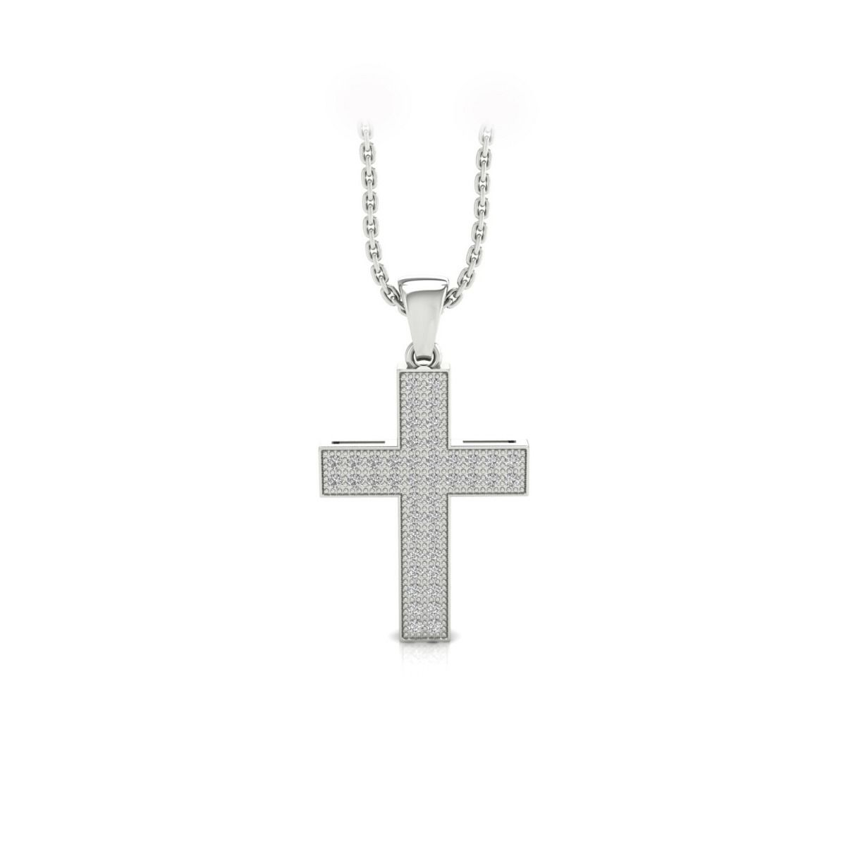 North 1.86ct cross lab grown diamond pendant