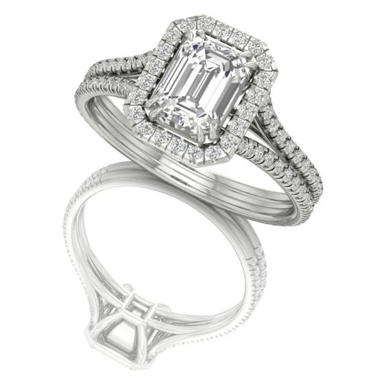 Emerald Cut Real Diamond Ring Shanti Jewel Online Jewelry Store