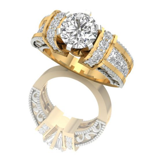 Round Cut Diamond Ring Design by Shanti Jewel
