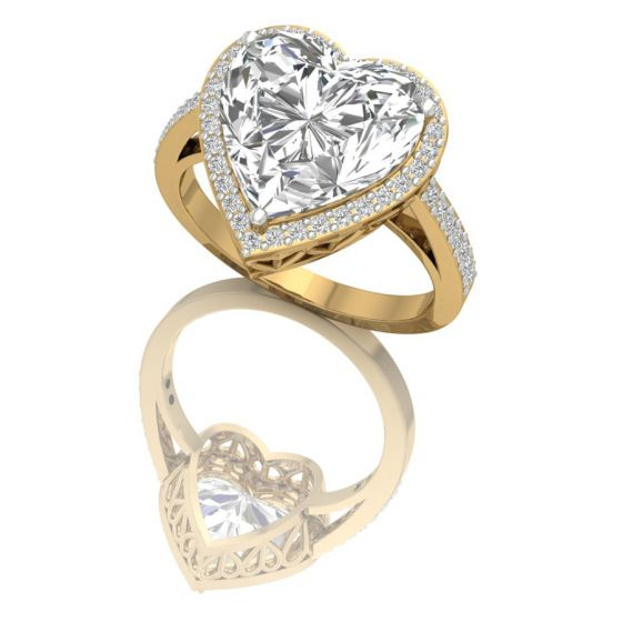 Buy Hagan Heart Shaped Promise Ring Online Shopping Store USA India Australia Canada