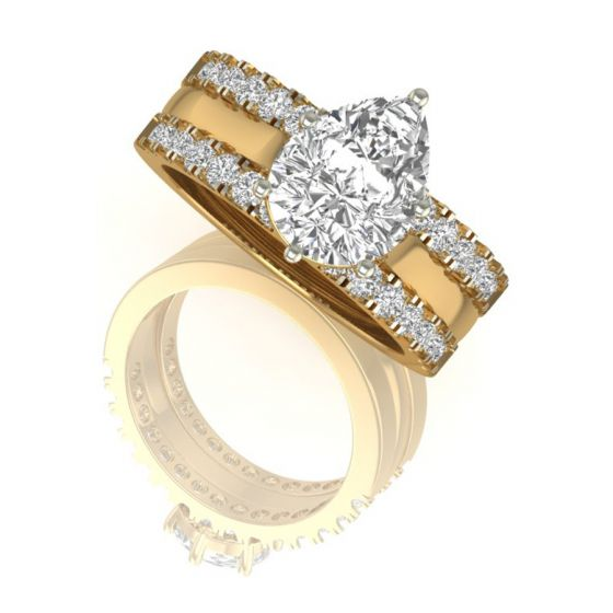 Pear Cut Real Diamond Ring Design by Shanti Jewel Online Jewelry Store