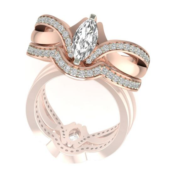 Marquise Cut Real Diamond Ring Design by Shanti Jewel Online Store