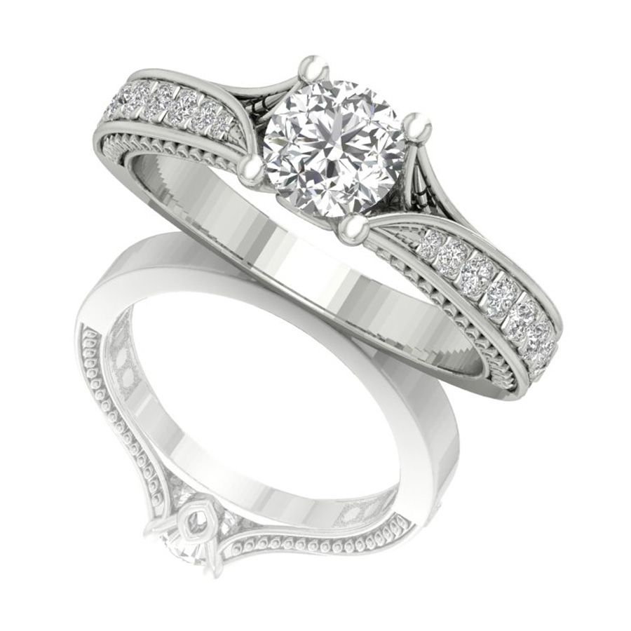round-cut-gold-engagement-ring