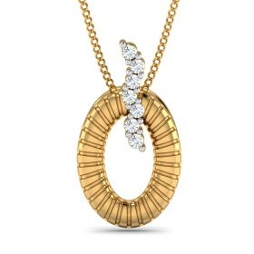 shein 0.07ct  round diamond pendant