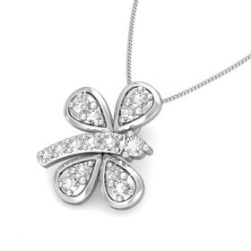 Icey butterfly 0.11ct diamond pendant