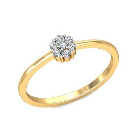 Fern 0.11ct cluster diamond casual ring
