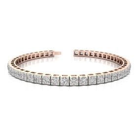 Nivee 7.63ct diamond tennis bracelet
