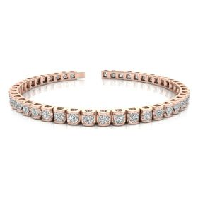 Louis 7.16ct diamond tennis bracelet