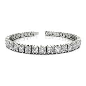 Pure 15.58ct princess diamond bracelet
