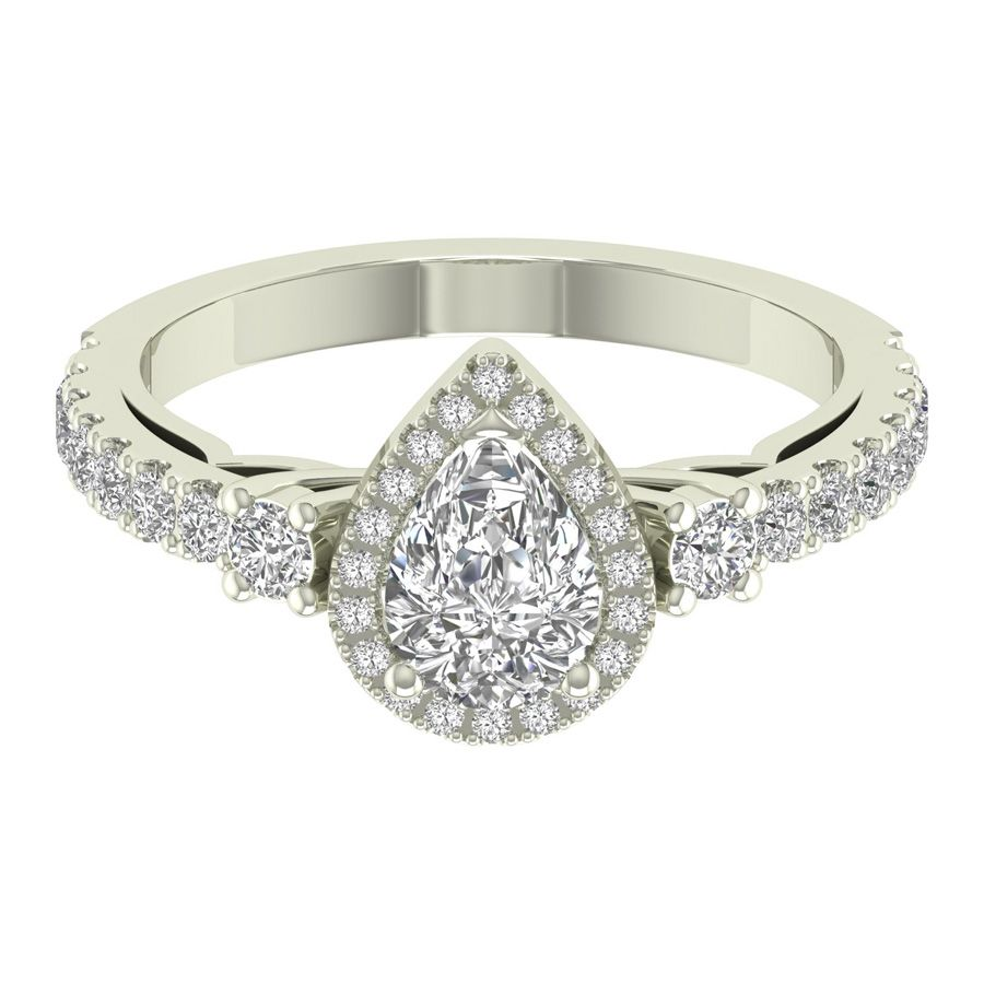 pear shaped diamond ring settings